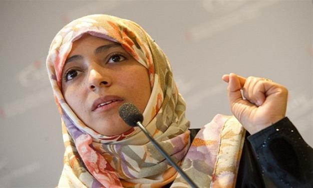 توكل كرمان تطالب الحوثيين بتفجير منزلها
