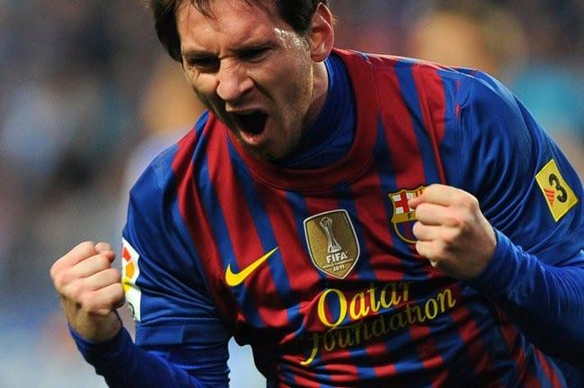 صورة وضع ميسي على مقاعد البدلاء في مباراة برشلونة وديبورتيفو 9-3-2013