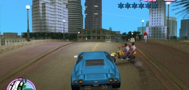 لعبة حرامي السيارات على الصفحة