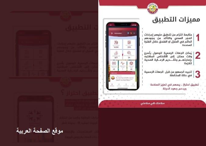 صورة تحميل تطبيق احتراز قطر بنظام الذكاء الإصطناعي