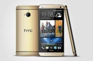 هاتف HTC One الذهبي