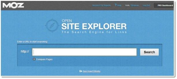 معرفة الروابط عبر موقع Open Site Explorer