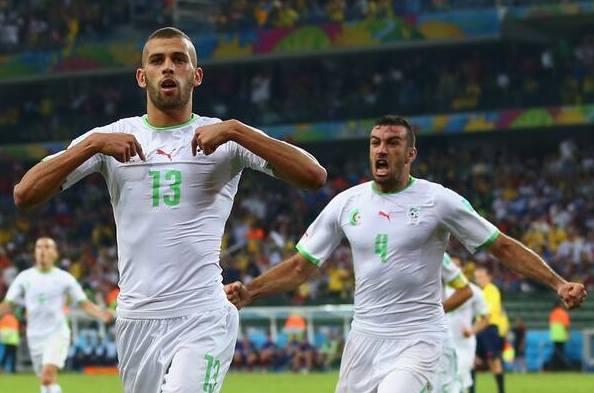 صور من فوز الجزائر الي تغلبت على روسيا