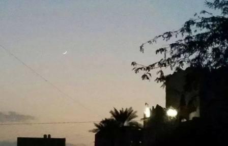 الهلال يثبت بأن صيام اليمنيين كان على حق وان السبت اول ايام رمضان 2014