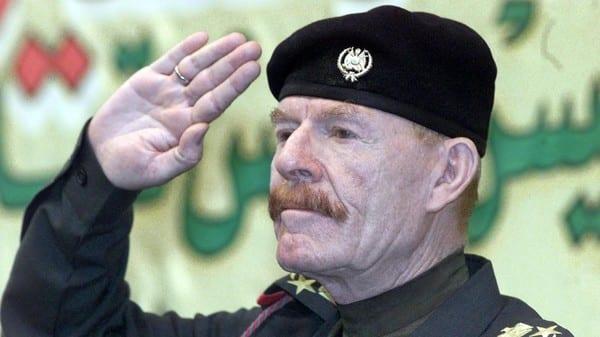 صورة عزت الدوري يضهر للجميع ويبشر بأنه على اعتاب بغداد