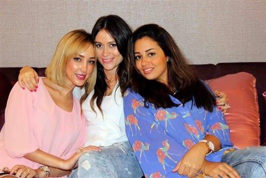 صور بنات 2014 , صور شقيقات تامر حسني في حفل عيد ميلادة