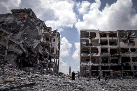 صورة قطر تتعهد بمبلغ 1 مليار دولار لاعادة اعمار غزة