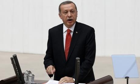 صورة أردوغان : الأسد شن 'إرهاب الدولة' عن طريق داعش