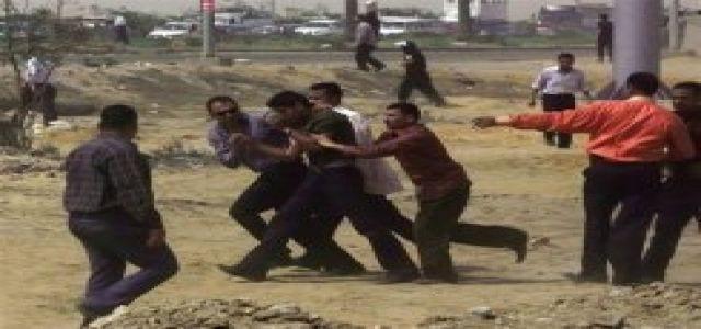 صورة العنف يندلع في المنوفية بعد اطلاق النار من الشرطة المحلية