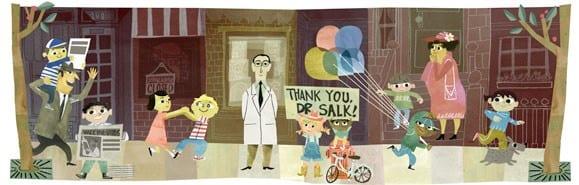 غوغل تحتفل بعيد ميلاد يوناس سولك مخترع لقاح شلل الأطفال للسنة 100