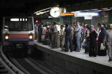 21 مصاب حصيلة حادث مترو الأنفاق بمحطة الزيتون
