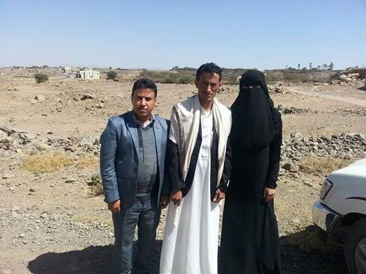 ناشطون ينشورن صورة ل عرفات القاضي مع زوجتة هدى ال نيران