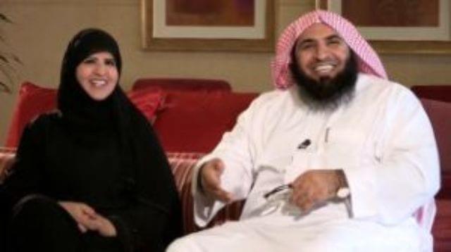 """صورة صور الشيخ أحمد الغامدي وزوجته أثناء لقائهما ببرنامج """"بدرية"""""""
