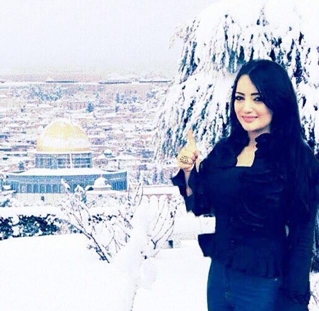 صور منال موسى بين الثلوج صور بنات 2020 من فلسطين منال موسى