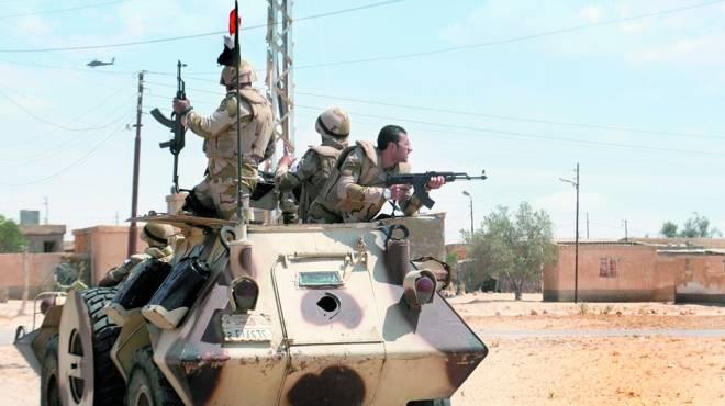 صورة تم العثور على جثة الضابط المصري المختطف من قبل أنصار بيت المقدس
