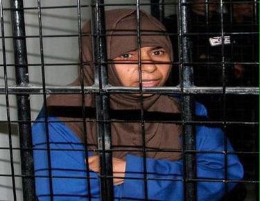 صورة مصادر تتحدث عن بدء اعدام ساجدة الريشاوي بعد عرض فيديو حرق الطيار كساسبة