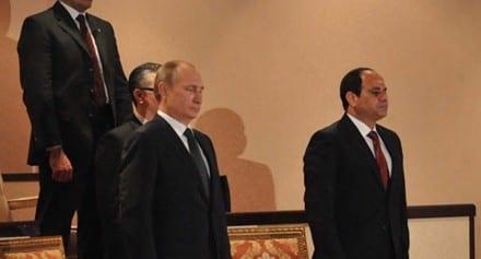 صورة في لقاء السيسي مع نظيرة الروسي قناة رسيا تسخر من اخبار مصر 11-2-2015