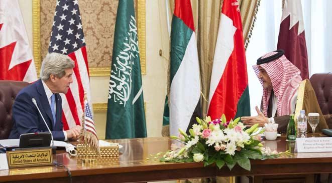 _بعد إشاعة وفاة سعود الفيصل واستقالتة ظهوره اليوم الخميس 5-3-2015112313