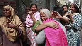 صورة أنفجار هائل في لاهور