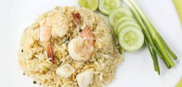 أرز بالجمبري لغداء صحي