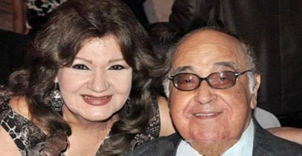 الفنان الراحل مصطفى حسن وزوجتة فيفي جمال