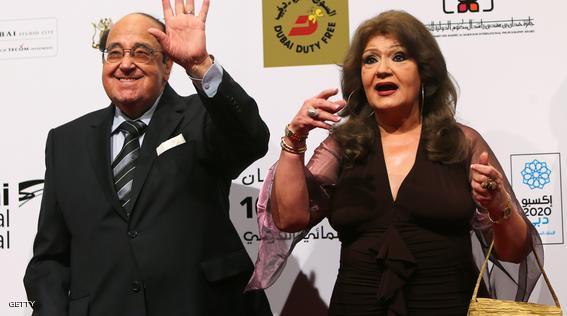 حسن مصطفى وزوجتة فيفي جمال