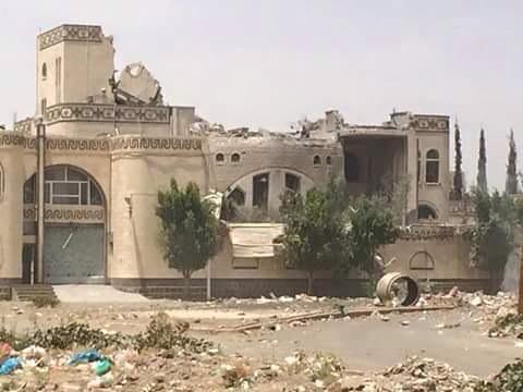 صورة غارات اليوم الخميس على العاصمة صنعاء من طيران التحالف صحافة نت واخر اخبار اليمن 2-7-2015