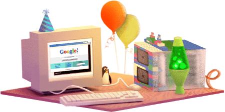 صورة خربشة Google قوقل تحتفل بعيد ميلادها 27 سبتمبر 2015 google-ne-zaman الذكرى 17
