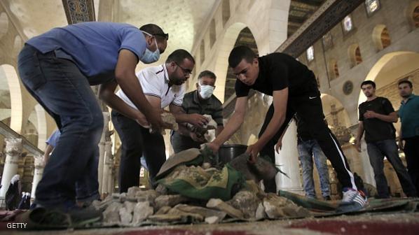 ISRAEL-PALESTINIAN-CONFLICT-اقتحام المسجد الاقصى