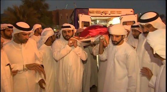 جنازة راشد بن محمد بن راشد ال مكتوم