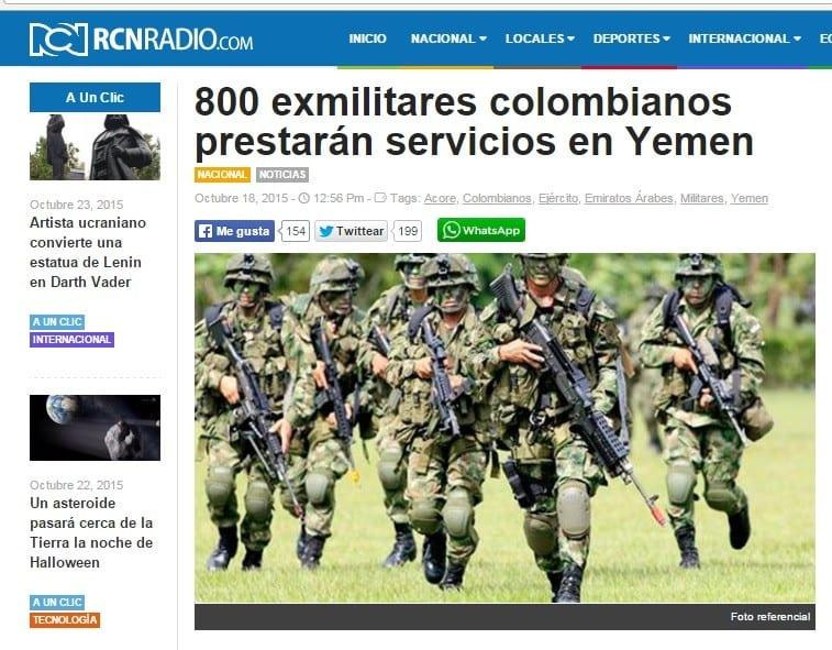 800 جندي كولوبي إلى اليمن