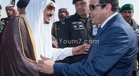 صور الملك سلمان والسيسي في لقاء يوقف شائعات الإختلافات اخبار مصر 11-11-2015