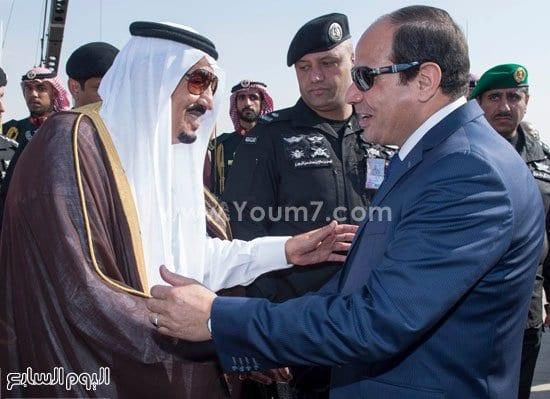 Photo of صور الملك سلمان والسيسي في لقاء يوقف شائعات الإختلافات اخبار مصر 11-11-2015