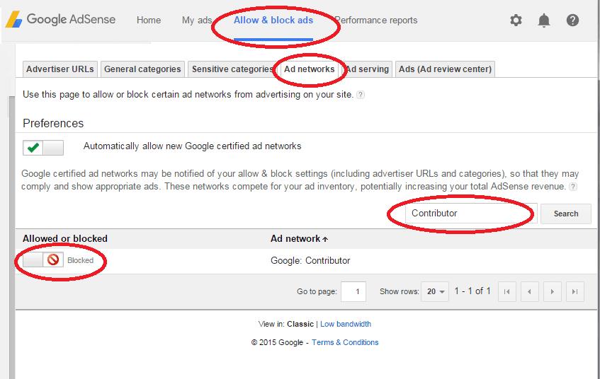 Google Contributor OptOut