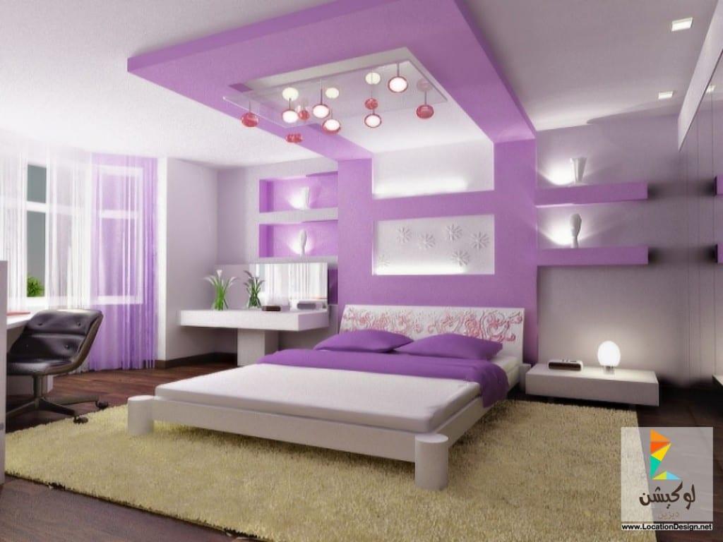 الوان رومانسية من دهانات غرف النوم