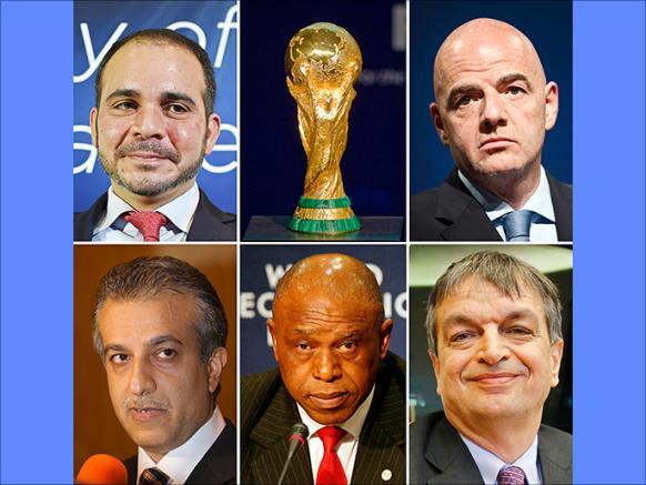 صورة إعلان نتائج الجولة الأولى من إنتخابات الفيفا 2016 FIFA