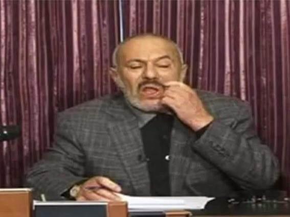 صورة خطاب علي عبدالله صالح بمناسبة 4 سنوات لتسليمه السلطة