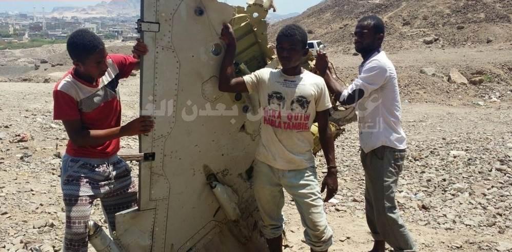 صورة الطائرة الإماراتية بعد تحطيمها