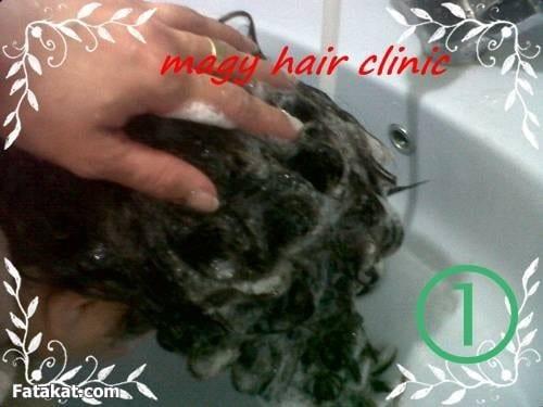 طريقة فرد الشعر بالغسل اولا
