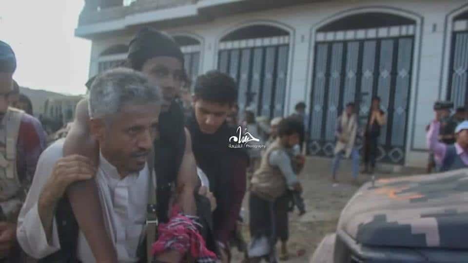 Photo of نجاة الشيخ حمود المخلافي من محاولة قتلة ومقتل المصور محمد اليمني