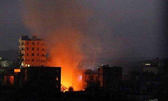 Photo of غارات جويةعلى جبل النهدين صحافة نت أخبار اليمن 19-3-2016