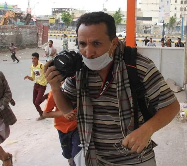 صورة نفي خبر إصالة الشيخ حمود المخلافي ومقتل المصور محمد اليمني