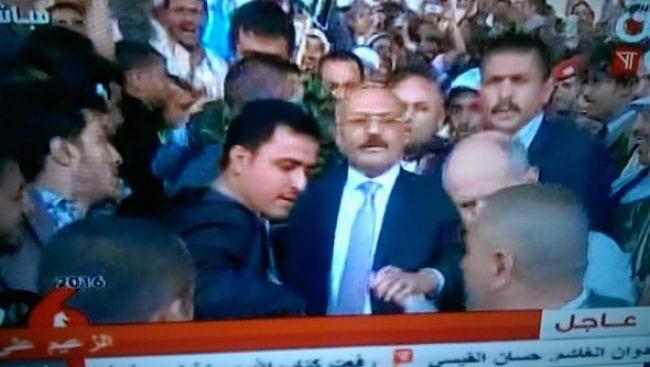 صورة صور قبل كلمة علي عبدالله صالح الاخير وفيديو خروجه صحافة نت