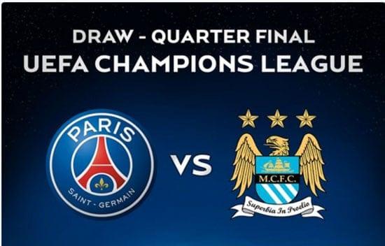 صورة باريس سان جيرمان يستضيف نادي مانشستر سيتي في قمة مباريات دوري ابطال اوروبا