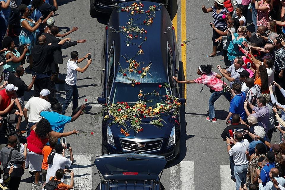 صورة صور من جنازة محمد علي كلاي اليوم في أمريكا بحضور العديد من الشخصيات