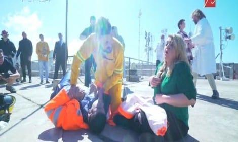 صورة الخليل كوميدي ومها احمد في رامز بيلعب بالنار الحلقة 9 وانتظروا الحلقة 10 الليلة