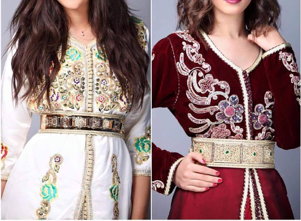 ملابس قفطان مغربي 2020 من الأزياء المغربية صور بنات مغربية 2020