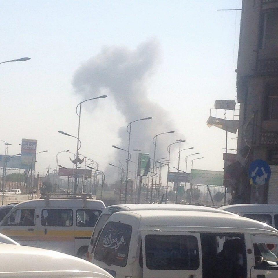 صورة تحليق للطائرات وإنفجارات في صنعاء هذه الأثناء تزامناً مع مظاهرة اليوم في السبعين 20-8-2016