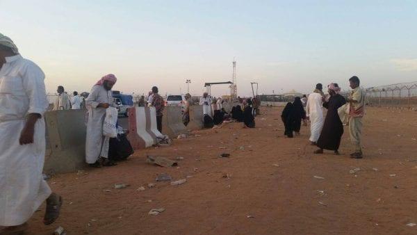 صورة مطالبة بـ فتح منفذ الوديعة وتسهيل المعاملة أمام حجاج بيت الله الحرام من اليمن الى السعودية