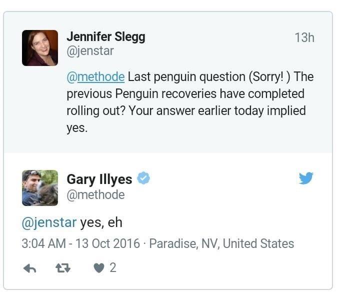 إكتمال تحديث google penguin 4.0